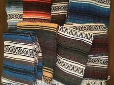 10 Pack - Mexican Falsa Throw Blankets * Yoga * New - Made in Mexico Serapes