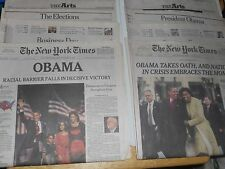 The New York Times NOT REPRINTS OBAMA PRESIDENT VICTORY 2008 + INAUGURATION 2009