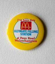 Vintage McDonalds Ultimate Drive Thru Badge Penn Road Wolverhampton VGC