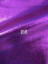 "METALLIC FOIL SPANDEX FABRIC - Purple - 2 WAY STRETCH LYC 58""/60"" WIDTH SOLD BTY"