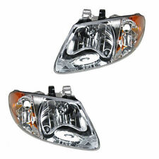 Dodge Grand Caravan Chrysler Voyager Headlights Pair set New