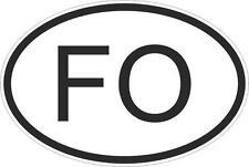 Adesivo adesivi sticker codice auto moto ritagliato nazioni ovale FAER OER ISOLE