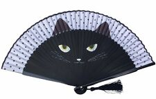 HIGH QUALITY Rare Catwomen Hand Painted Folding Handheld Fan HQF19