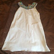 Alice and Olivia white sleeveless dress embellished small