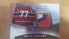 2015 Leaf ultimate Pierre Turgeon Game used patch 10/12