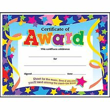 30 x Certificate of Award Reward/Award Certificates  - Printer Compatible