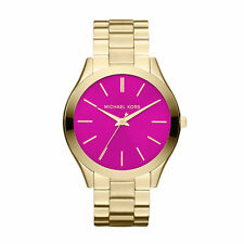 MICHAEL KORS Runway Pink Dial Gold Tone Ladies Watch MK3264 - 2 Years Warranty