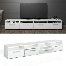 Mobile porta TV lowboard mensola armadio credenza scaffale bianco lucentezza 2er