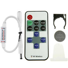 11 Keys Mini Dimmer RF Remote Control DC 5-24V for LED Single Color Light Strip