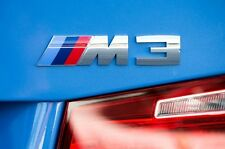 NEW Auto car Metal ///M3 Silver logo Emblem Badge Sticker Decal fit for BMW
