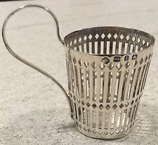 Hallmarked Silver William Hutton 1899 Glass Holder Possibly Liberty Antique