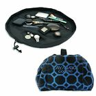 """Lay-n-Go Cosmo 20"""" Cosmetic Travel Beauty Makeup Bag Organizer Sapphire"""