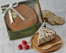 24 La Fromage Bamboo Cheese Board & Spreader Birthday Bridal Wedding Favor