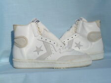 Vintage 1980s Converse Pro Star Hi White/Natural Leather All Star Size 8.5