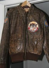 WW2 REPRODUCTION 603RD BOMBER SQUADRON, 8TH AIR FORCE A2 LEATH.JACKET,42