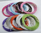 5/20Strs Stainless Wire Cable Steel Chains Cord Necklace 12colors