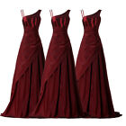 Plus Size Long Wedding Party Bridesmaid Evening BALL Gown Burgundy Prom Dresses