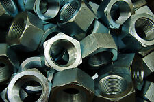 "(8) Zinc Plated 1-1/4-12 Hex Nuts -12 Pitch 1-1/4"" Hot Formed"
