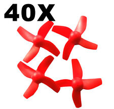 40pcs 20Pair Blade Red Propeller Set for Inductrix Tiny Whoop Mini FPV Drone