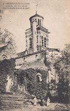 CPA GUERRE 14-18 WW1 PIERREFONDS 4 l'église après bombardements 1918