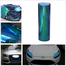 New 78*12in DIY Chameleon Colorful Blue Car Headlight Fog Lamps Vinyl Tint Sheet