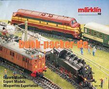 MÄRKLIN-Prospekt/MARKLIN-brochure: Export-Modelle/Export models 1987/88