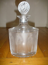 Vintage Lalique France Frosted Crystal Decanter in Femmes Antiques women figures