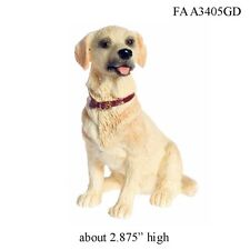 SItting Gold Labrador Retriever Dog - 1:12 Scale Dollhouse Miniature Pet