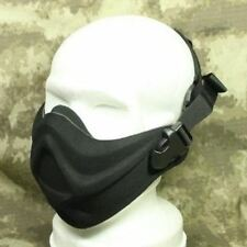 AIRSOFT BLACK SWAT NEOPRENE HALF FACE MASK HARD FOAM AEG UK
