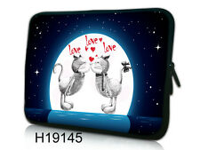 "17-17,3"" LAPTOP SLEEVE CARRY CASE BAG 4 ALL LAPTOPS, FREE POST *KISSING CATS*"