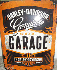 HARLEY DAVIDSON (GARAGE/ MOTORCYCLES),  20X15 CM   LICENCED , EMBOSSED WALL SIGN