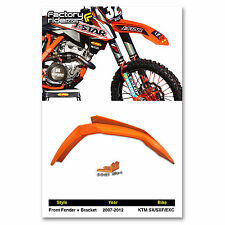 2007-2012 KTM SX/SXF/EXC 125/150/250/300/350/450 Dirt Bike Front Fender+Bracket