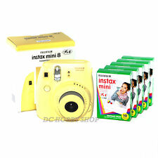 Fuji instax mini 8 yellow Fujifilm instant camera + 50 film