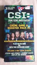 CSI: Crime Scene Investigation Crime Game & Booster Pack #1 NEW Sealed SBG