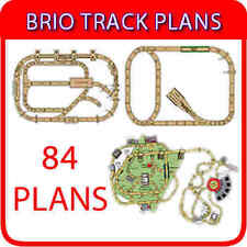 Brio circuit train en bois Train Thomas plans 84 schémas sur DVD + logiciel de conception