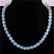 """10mm faceted Moonstone Round Bead Necklace 18"""""""