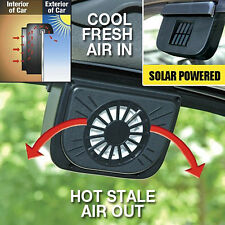 Car Window Solar Power Auto Air Vent Cool Fan Ventilate System Radiator d36