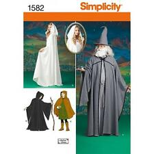 SIMPLICITY SEWING PATTERN MISSES MENS TEENS CAPE TUNIC  HAT COSTUME XS-XL 1582
