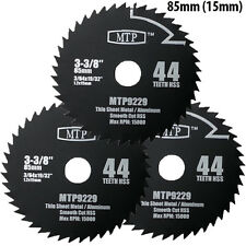 Pack of 3 85mm x 15mm Bore HSS aw Blade For Worx WorxSaw Worx WX423 WX422 400W