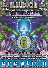 (RAVE FLYER 2005) ILLUSION @ STOKE ON TRENT.MAN PARRIS,CONNIE,DOUGAL,GAMMER