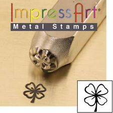 Metal stamp, punch, clover leaf- 6mm