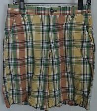 Banana Republic Multicolor Madras Plaid Flat Front Shorts Men's Sz 29 *Cotton