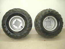 2003 03 POLARIS SPORTSMAN 90 ATV 4 WHEELER REAR TIRES RIMS 18X9.50-8