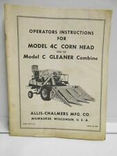 Allis-Chalmers Instructions for Model 4C Corn Head Form, TM-288