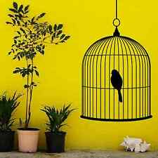 Birdcage Vinyl Decal Wall Art Decor Sticker traditional black or white