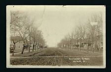 Arthur Iowa IA 1917 RPPC Old Dirt Road and 2 Story Homes on Residential Street