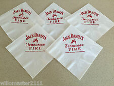 5 VERY RARE  JACK DANIEL'S FIRE  PAPER TABLE KNAPKINS FROM THE USA