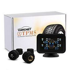 CARCHET TPMS Tire Pressure Monitoring Intelligent System+4 External Sensors LCD