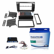 Radio Replacement Adapter & Single/Double Din Dash Mount Kit Metallic for Tundra