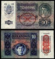 AUSTRIA HUNGARY 10 KRONEN KORONA 1915 P#51 OVP DO BANKNOTE UNC